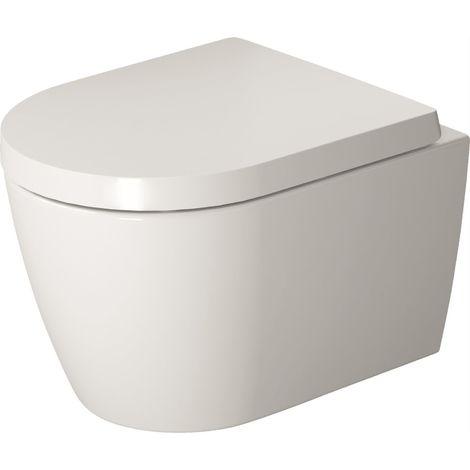 Duravit ME de Starck WC de pared, sin borde, lavable, Durafix incluido, 370 x 480mm, Compacto, color: Color interior blanco, color exterior blanco - 2530090000