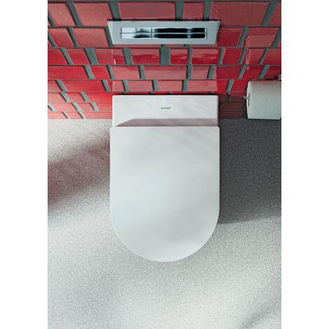 Duravit ME de Starck WC de pared, sin borde, lavable, Durafix incluido, 370 x 570 mm, color: Color interior blanco, color exterior blanco, con Wondergliss - 25290900001