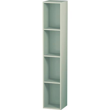 Duravit Meuble à étagères L-Cube, largeur 180mm, profondeur 180mm, vertical, 4 étagères, Coloris: Laque mate en soie perle abricot - LC120502020