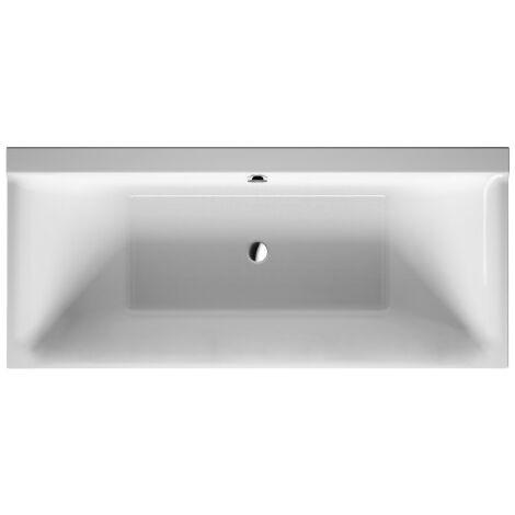 Duravit P3 Comforts bañera rectangular, 180x80cm, dos vertientes traseras, 700377, versión empotrada - 700377000000000