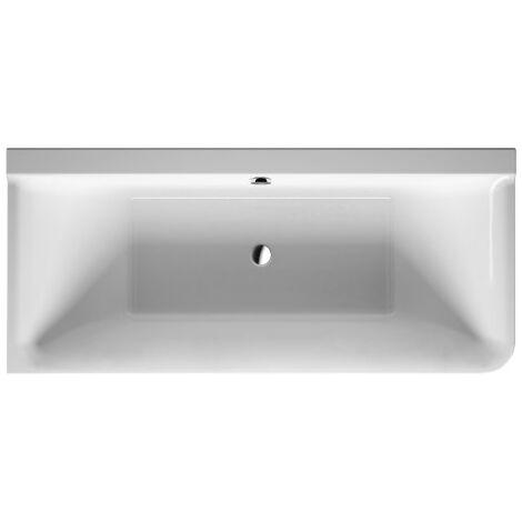Duravit P3 Comforts esquina izquierda de la bañera, 180x80cm, 700379, con revestimiento acrílico sin costuras, marco, dos respaldos inclinados - 700379000000000