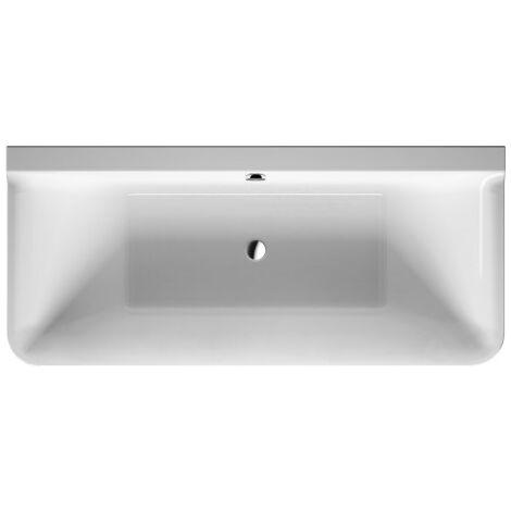 Duravit P3 Comforts versión de pared de bañera, 180x80cm, 700381, con revestimiento acrílico sin costuras, marco, dos respaldos inclinados - 700381000000000