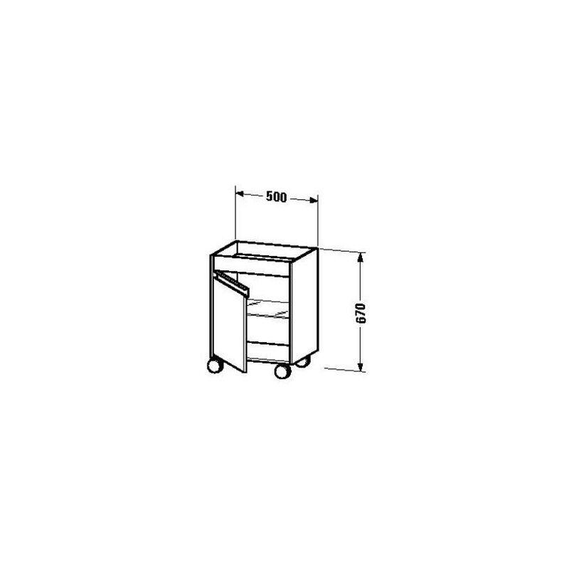 Rollcontainer Ketho 360x500x670mm grAphit matt, KT2530L4949 - Duravit