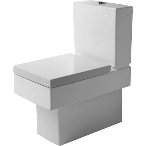 Duravit Stand WC Combinación Vero 63cm, color: Negro con WonderGliss - 21160908001
