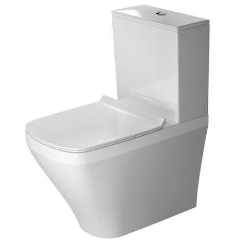 Duravit Stand-WC DuraStyle Kombi 63cm Tiefspüler, für aufgesetzten Spülkasten, Abgang Vario