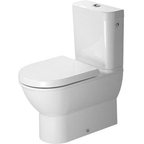 Duravit Stand-WC Kombination Darling New 630 mm, Tiefspüler, ohne Spülkasten, ohne Deckel, Abg.waagr., weiß, 2138090000