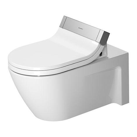 Duravit Starck 2 WC de pared para SensoWash®, 253359, color: Blanco con Wondergliss - 25335900001