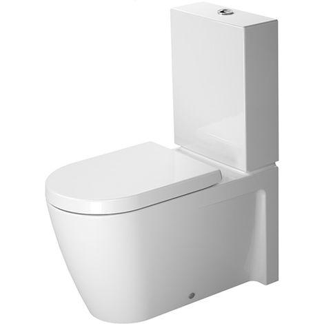 Duravit Starck 2 WC independiente, lavavajillas, para cisterna de superficie, color: Blanco con Wondergliss - 21290900001