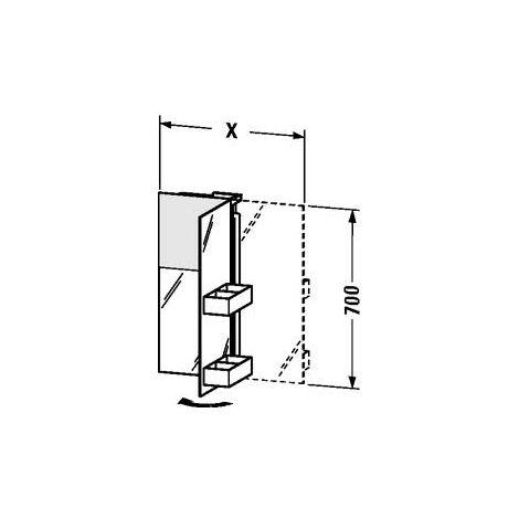 Duravit Starck mirror cabinet 9721, position of door left, 750mm - S19721L0000