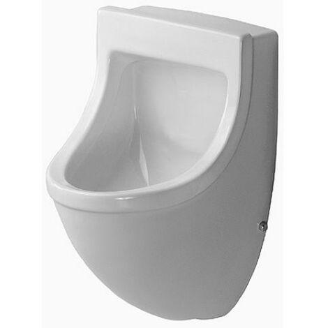 Duravit Urinal Starck 3, entrée par derrière, avec nœud papillon, aspiration, sans couvercle, avec nœud papillon, blanc, Coloris: Blanc - 0821350007