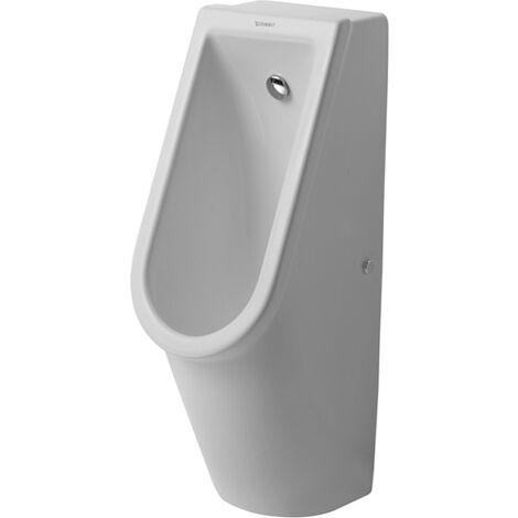 Duravit Urinal Starck 3, entrée par l'arrière, avec buse de rinçage, avec noeud papillon, Coloris: Blanc - 0827250007