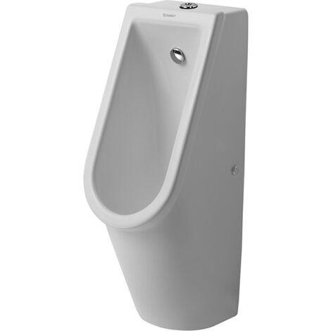 Duravit Urinal Starck 3, entrée par le haut, avec buse de rinçage, sans couvercle, Coloris: Blanc - 0826250000