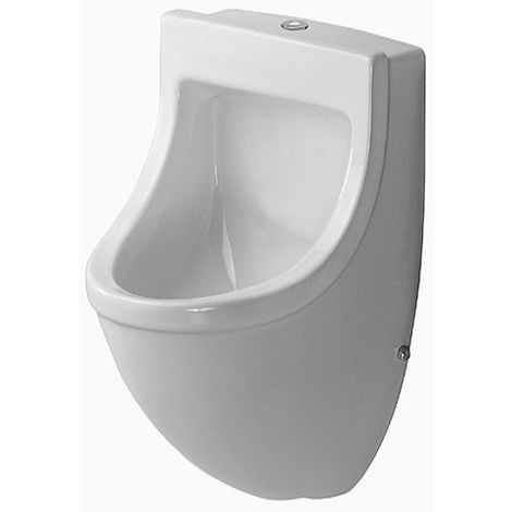 Duravit Urinal Starck 3, inlet from above, suction, with bow tie, without cover, white