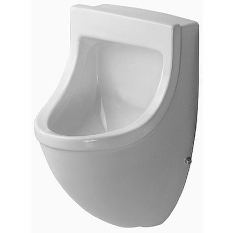 Duravit Urinal Starck 3, inlet from behind, with bow tie, suction, without lid, with bow tie, white