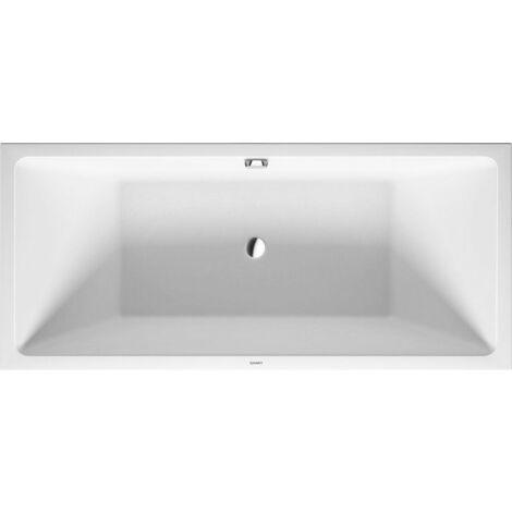Duravit Vero Air esquina derecha de la bañera 180x80cm, revestimiento acrílico sin costuras, dos vertientes traseras, 700416 - 700416000000000