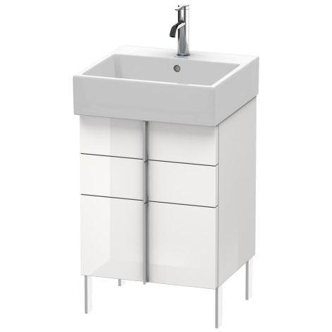 Duravit Vero Air Mueble de pared 48,4 x 43,1 cm, 2 cajones, 1 extraíble, para Vero Air 235050, Color (frente/cuerpo): Laca de color gris franela de alto brillo - VA658408989