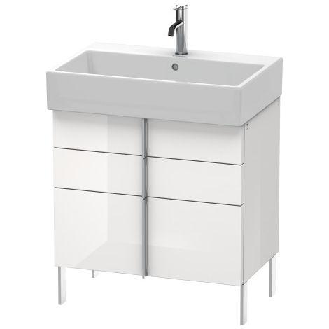 Duravit Vero Air Mueble de pared 68,4 x 43,1 cm, 2 cajones, 1 extraíble, para Vero Air 235070, Color (frente/cuerpo): Laca de color gris franela de alto brillo - VA658608989