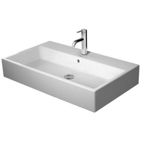 Duravit Vero Cuvette de lavage d'air 80x47cm, sans trop-plein, avec table de robinetterie, 1 trou de robinet, rectifié, Coloris: Blanc - 2350800071