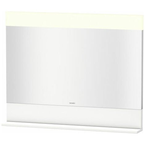 Duravit Vero mirror with bottom shelf, 7513, 1000 mm, Colour (front/body): White Lilac Silk matt Lacquer - VE751308787