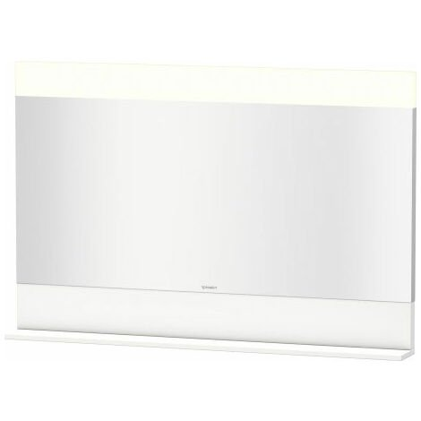 Duravit Vero mirror with bottom shelf, 7514, 1200 mm, Colour (front/body): Flannel Grey high gloss lacquer - VE751408989