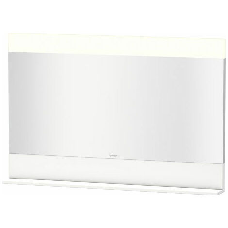 Duravit Vero mirror with bottom shelf, 7514, 1200 mm, Colour (front/body): White high gloss decor - VE751402222