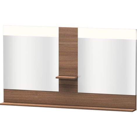 Duravit Vero mirror with shelves in the middle and bottom, 7361, 1400mm