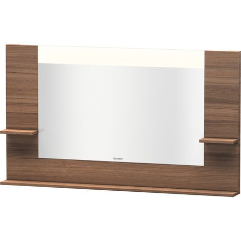 Duravit Vero mirror with shelves left/right and bottom, 7353, 1400mm