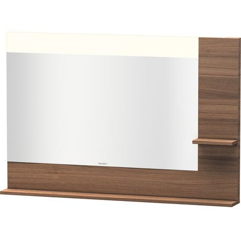 Duravit Vero mirror with shelves on the right and bottom, 7323, 1200mm