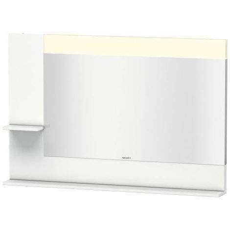 Duravit Vero mirror with side shelves left and down, 7313, 1200mm
