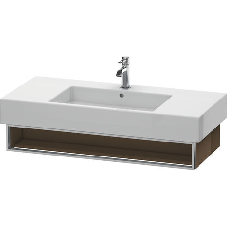 Duravit Vero Vanity unit wall-mounted 6014, with 1 open compartment incl. towel rail, 1000mm