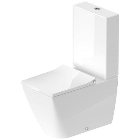 Duravit Viu Stand-WC Combinación 219109, sin marco, 350x650 mm, lavable, color: Blanco con HygieneGlaze - 2191092000
