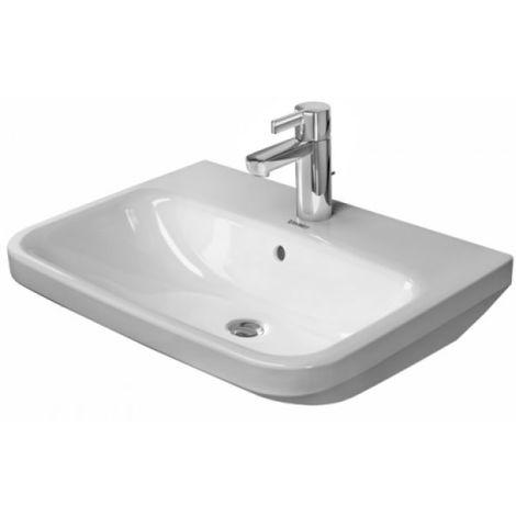 Duravit Waschtisch DuraStyle 60cm mit Überlauf, mit Hahnlochbank, 3 Hahnlöcher, color: Blanco con Wondergliss - 23196000301