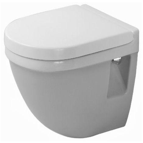 Duravit WC colgante de pared Starck 3 Compact 47,5 cm, lavable, color: Blanco con Wondergliss - 22020900001