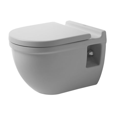 Duravit WC de pared Starck 3 54cm, altura del asiento + 5cm, lavable, color: Blanco con Wondergliss - 22150900001