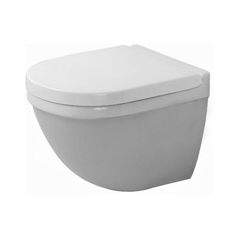 Duravit WC de pared Starck 3 Compact 48,5 cm, lavavajillas, color: Blanco con Wondergliss - 22270900001