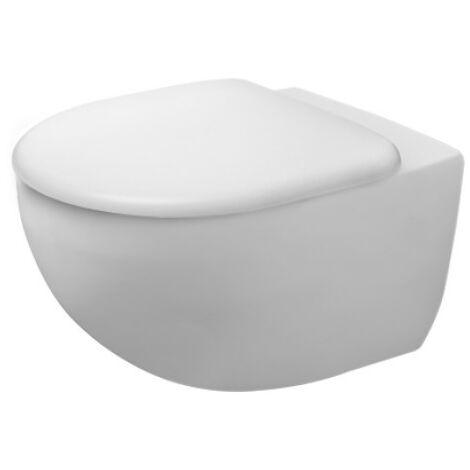 Duravit WC mural Architec, 257209, sans rebord, 365x575mm, rondelle 4,5 l de profondeur, Coloris: Blanc avec Wondergliss - 25720900001