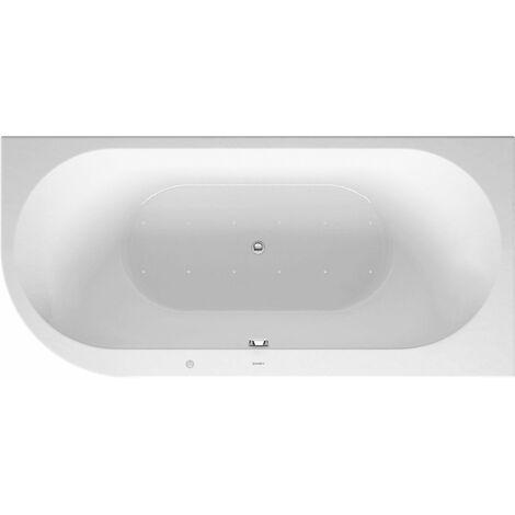 Duravit Whirlpool Darling New 1900x900mm, angle droit, avec couvercle en acrylique, cadre, 2 pentes arrière, système d'évacuation et de trop-plein, Airsystem - 760247000AS0000