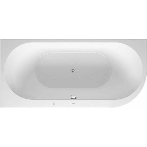 Duravit Whirlpool Darling New 1900x900mm, angle gauche, avec couvercle en acrylique, cadre, 2 inclinaisons arrière, vidange et trop-plein, Airsystem - 760246000AS0000