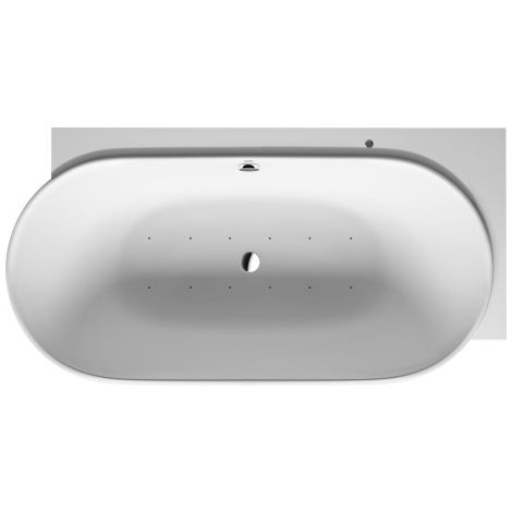 Duravit Whirlpool Luv DuraSolid A 1850x950mm corner right with two back sloping, seamless cover, frame, drain and overflow set, Airsystem - 760432000AS0000