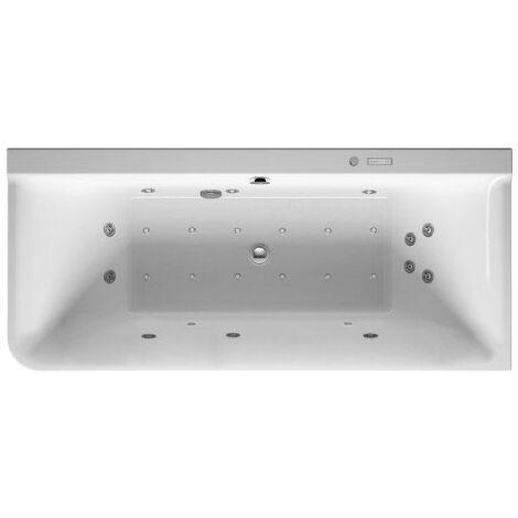 Duravit Whirlpool P3 Comforts 1800 x 800 mm, esquina derecha, revestimiento acrílico sin juntas, marco, dos inclinaciones traseras, desagüe y rebosadero, Combi-System E - 760380000CE1000