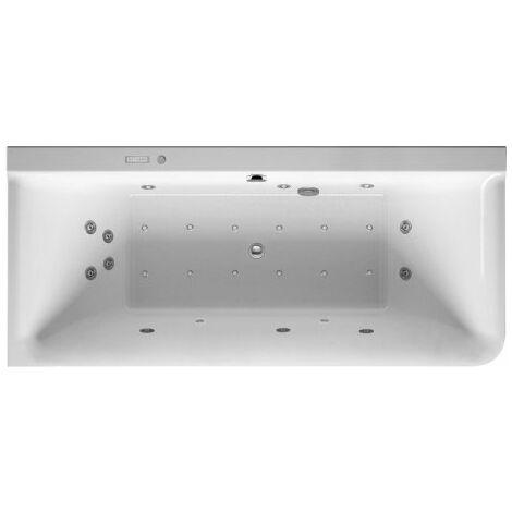 Duravit Whirlpool P3 Comforts 1800 x 800 mm, esquina izquierda, revestimiento acrílico sin costuras, marco, dos inclinaciones traseras, desagüe y rebosadero, Combi-System E - 760379000CE1000