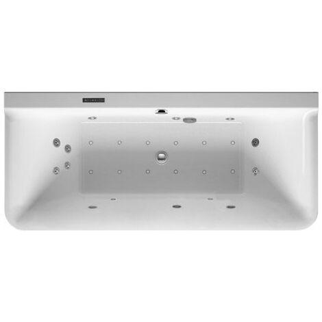 Duravit Whirlpool P3 Comforts 1800 x 800 mm, versión de pared previa, revestimiento acrílico sin juntas, marco, dos inclinaciones del respaldo, accesorios de desagüe y rebose, Combi-System L - 760381000CL1000