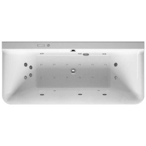 Duravit Whirlpool P3 Comforts 1800 x 800 mm, versión de pared previa, revestimiento acrílico sin juntas, marco, dos inclinaciones del respaldo, juego de desagüe y rebose, Combi-System E - 760381000CE1000