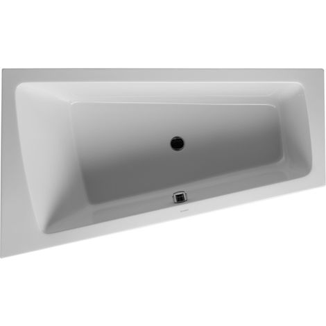 Duravit Whirlpool Paiova 1700x1000mm built-in version corner left, one sloping back, frame, drain and overflow set, Combi-System P - 760212000CP1000