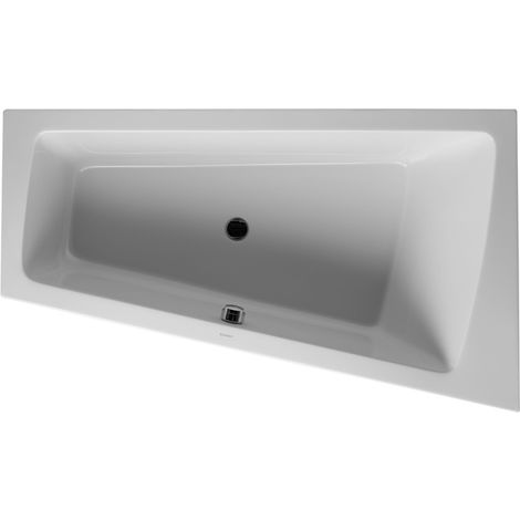 Duravit Whirlpool Paiova 1700x1000mm built-in version corner right, one sloping back, frame, drain and overflow set, Combi-System L - 760213000CL1000
