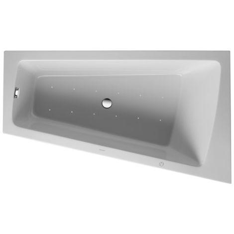 Duravit Whirlpool Paiova 1700x1000mm una parte posterior derecha inclinada, panel frontal de acrílico moldeado, marco, desagüe y rebosadero, sistema de chorro - 760265000JS1000