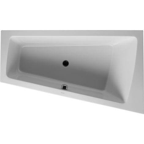 Duravit Whirlpool Paiova 1700x1000mm versión empotrada esquina derecha, un respaldo inclinado, marco, desagüe y rebosadero, Combi-System E - 760213000CE1000