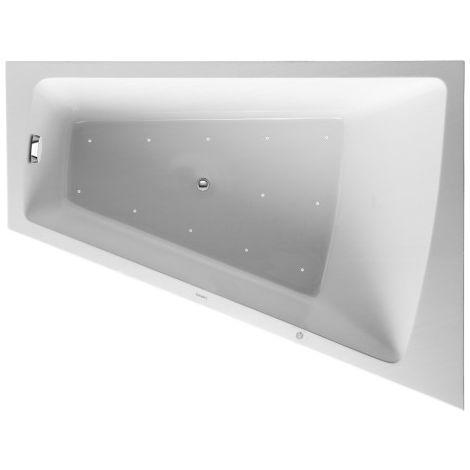Duravit Whirlpool Paiova 1700x1300mm una parte posterior derecha inclinada, panel frontal de acrílico moldeado, marco, desagüe y rebosadero, sistema de aire. - 760267000AS0000