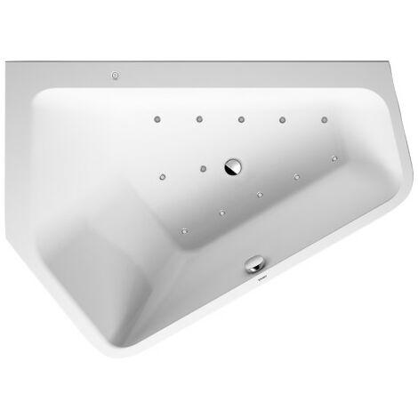Duravit Whirlpool Paiova 5 1770x1300mm angle gauche 1770x1300mm, revêtement acrylique sans joint, deux pentes arrière différentes, cadre, ensemble de drainage et de trop-plein, Air-System - 760394000AS0000