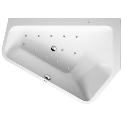 Duravit Whirlpool Paiova 5 1770x1300mm version encastrée angle droit, revêtement acrylique sans joint, cadre, kit de trop-plein et de trop-plein, Combis-System L - 760395000CL1000